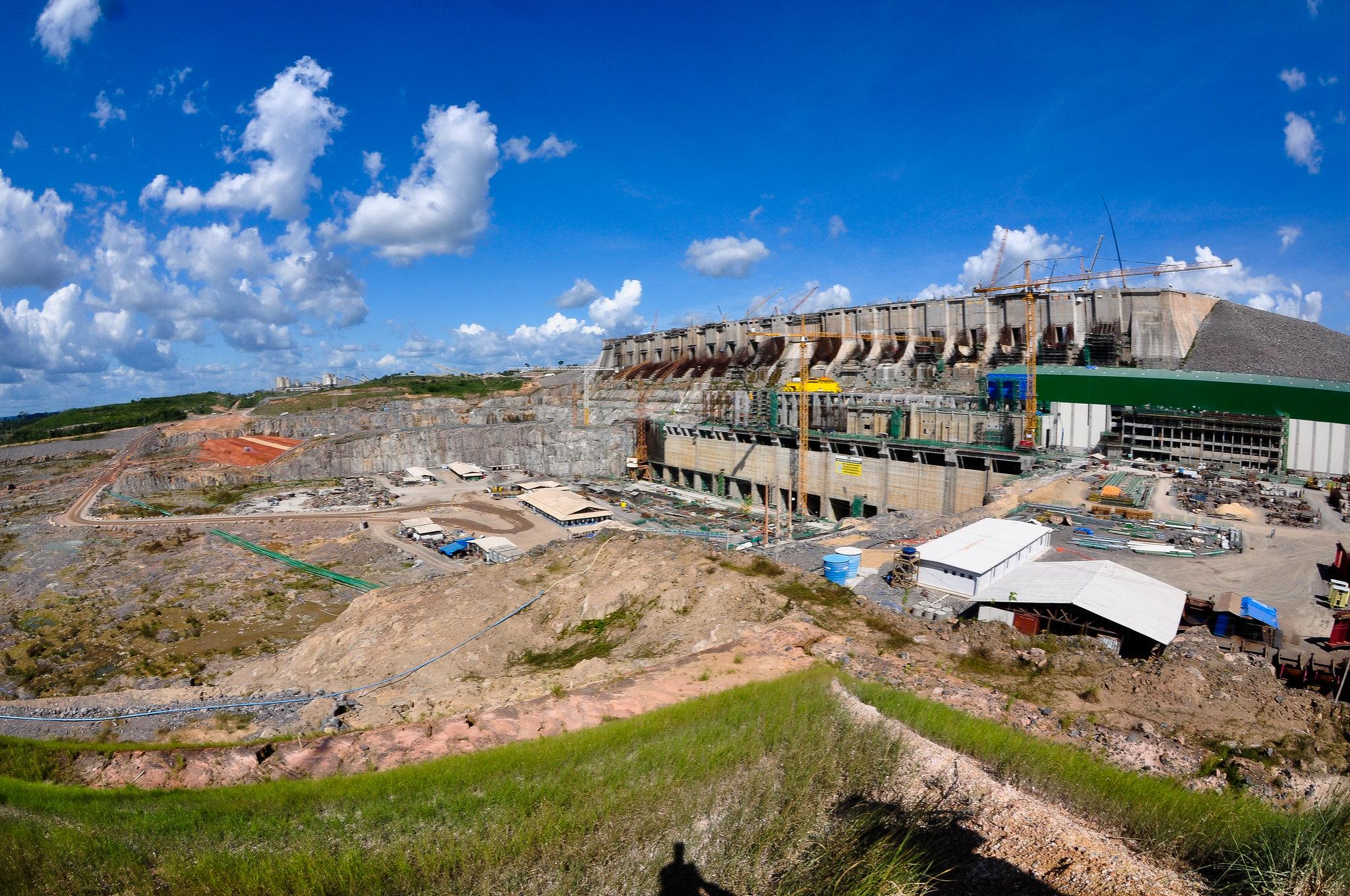 Canteiro de obras da usina de Belo Monte, no Pará (Foto: Saulo Cruz - SAE/PR - 3/6/2015)